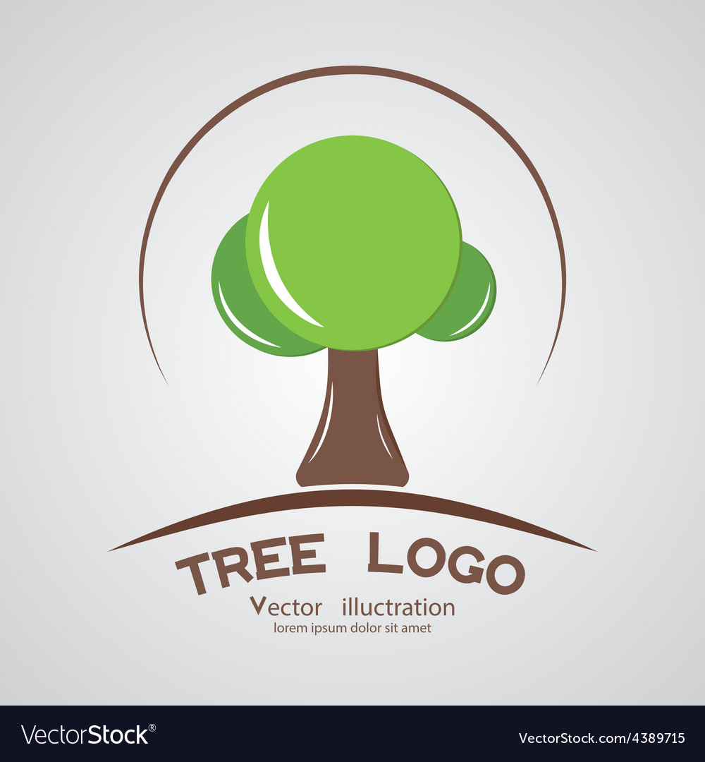 Green circle tree logotype branding wood company vector | Price: 1 Credit (USD $1)