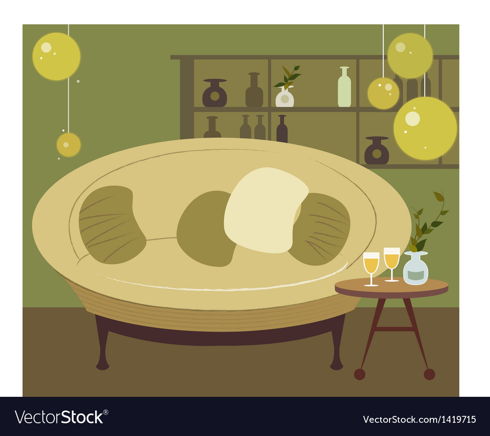 Home lounge background vector | Price: 1 Credit (USD $1)
