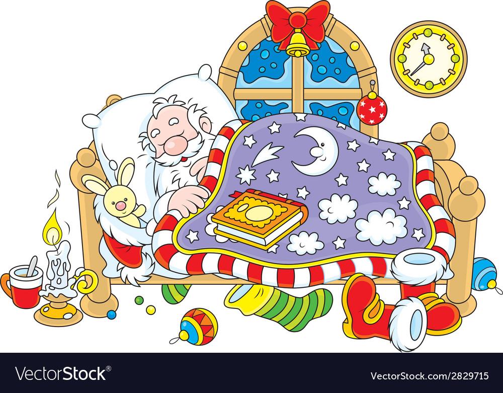 Santa claus sleeping vector   Price: 1 Credit (USD $1)