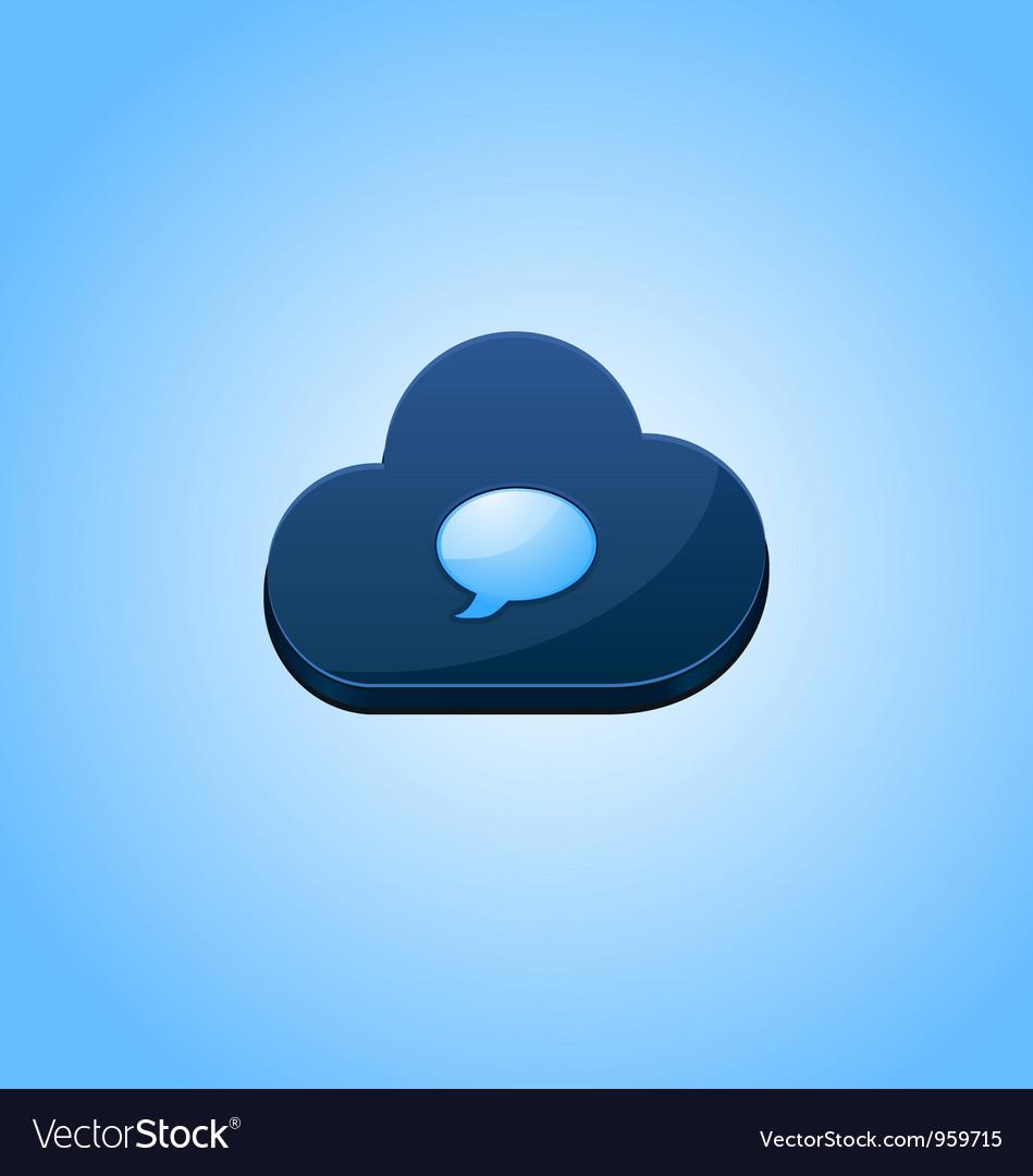 Speech cloud bubble concept design vector | Price: 1 Credit (USD $1)
