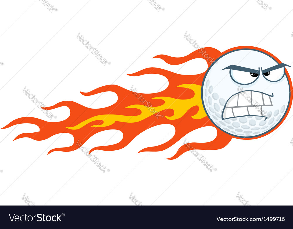 Angry flaming golf ball vector | Price: 1 Credit (USD $1)