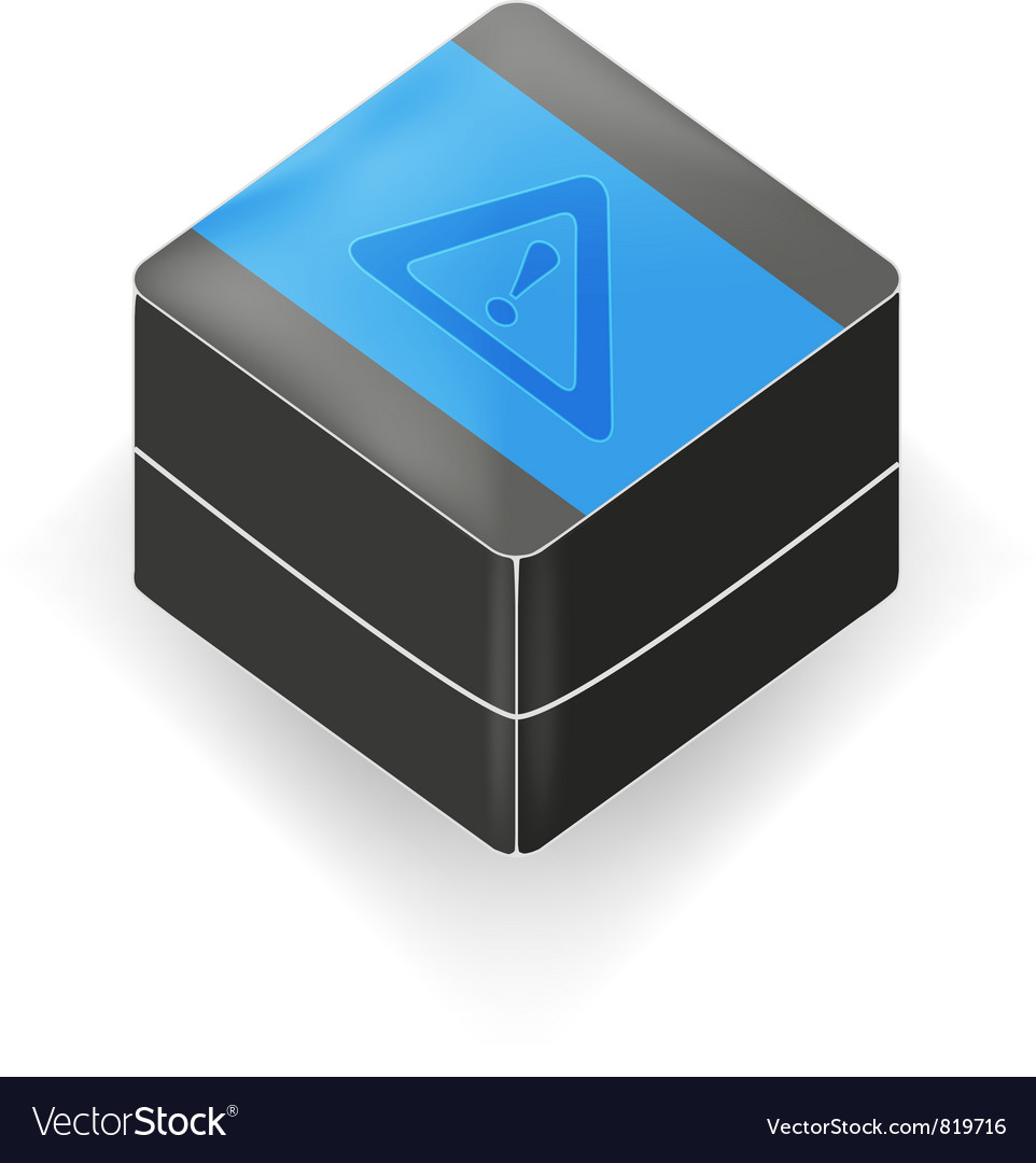 Black 3d cube vector | Price: 1 Credit (USD $1)