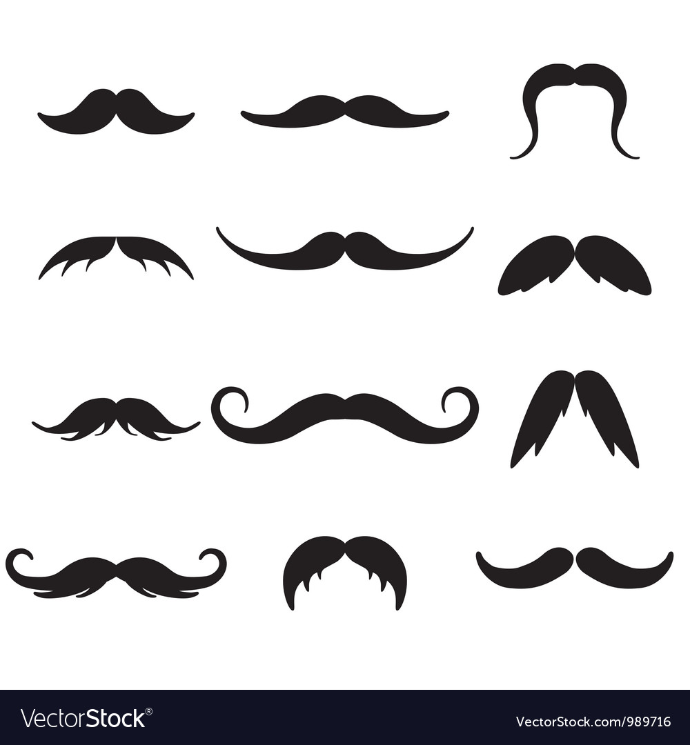 Black mustaches set vector | Price: 1 Credit (USD $1)