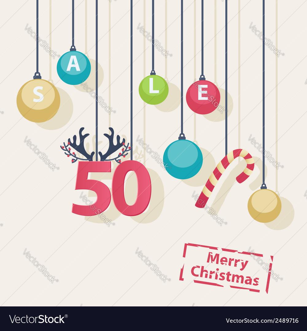 Christmas sale shop poster design vector | Price: 1 Credit (USD $1)