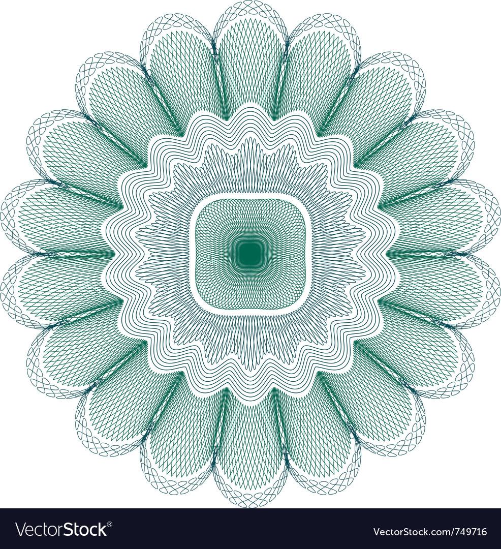 Green guilloche rosette vector | Price: 1 Credit (USD $1)