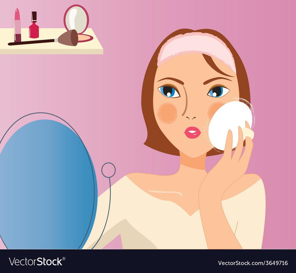 Makeup-girl vector | Price: 1 Credit (USD $1)