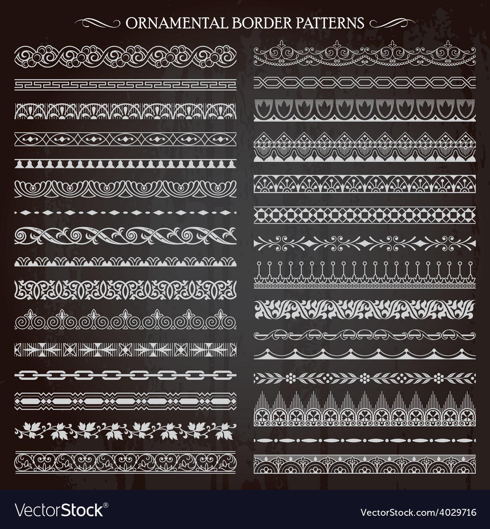 Ornamental border patterns vector | Price: 1 Credit (USD $1)