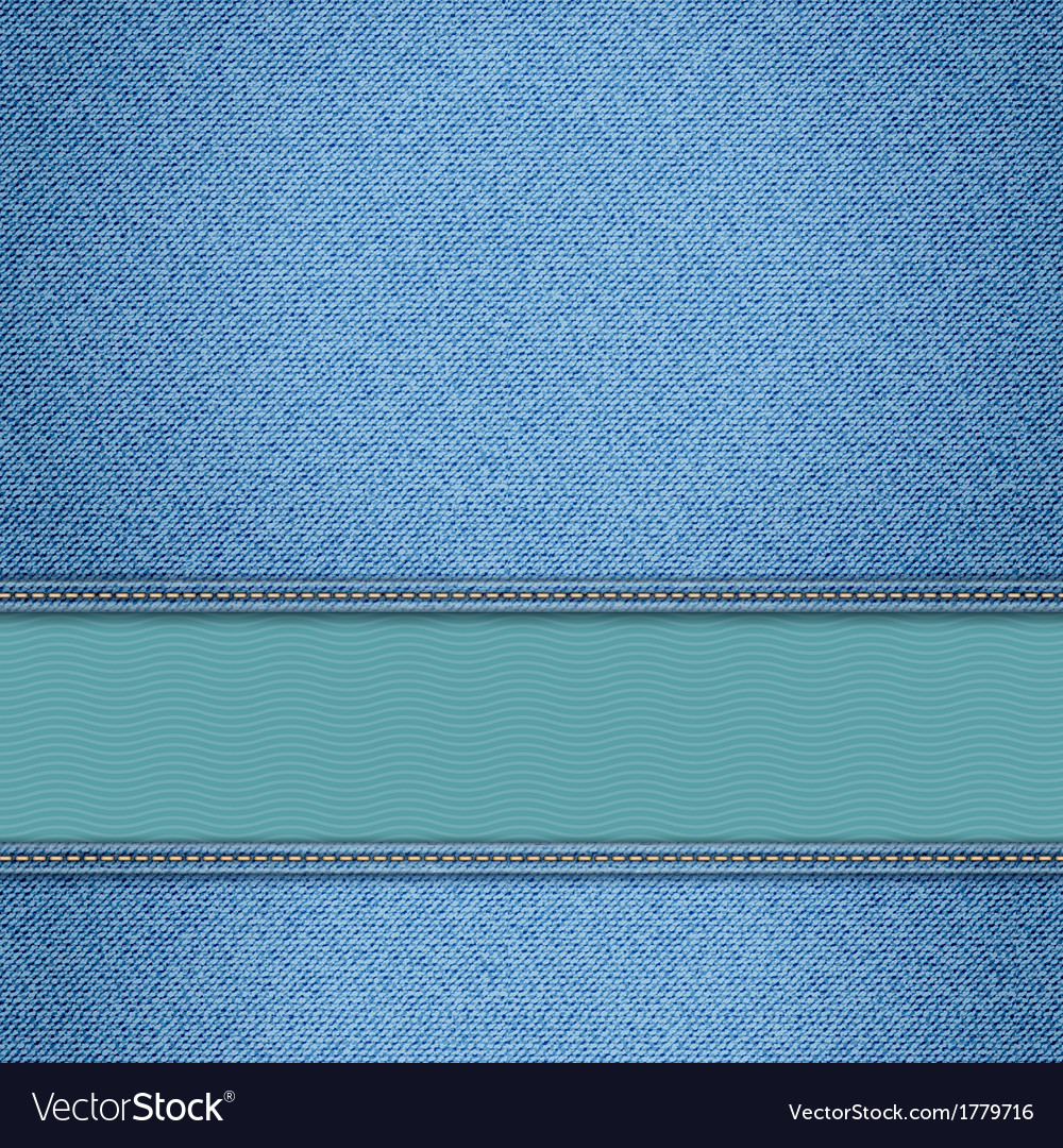 Realistic denim background vector | Price: 1 Credit (USD $1)