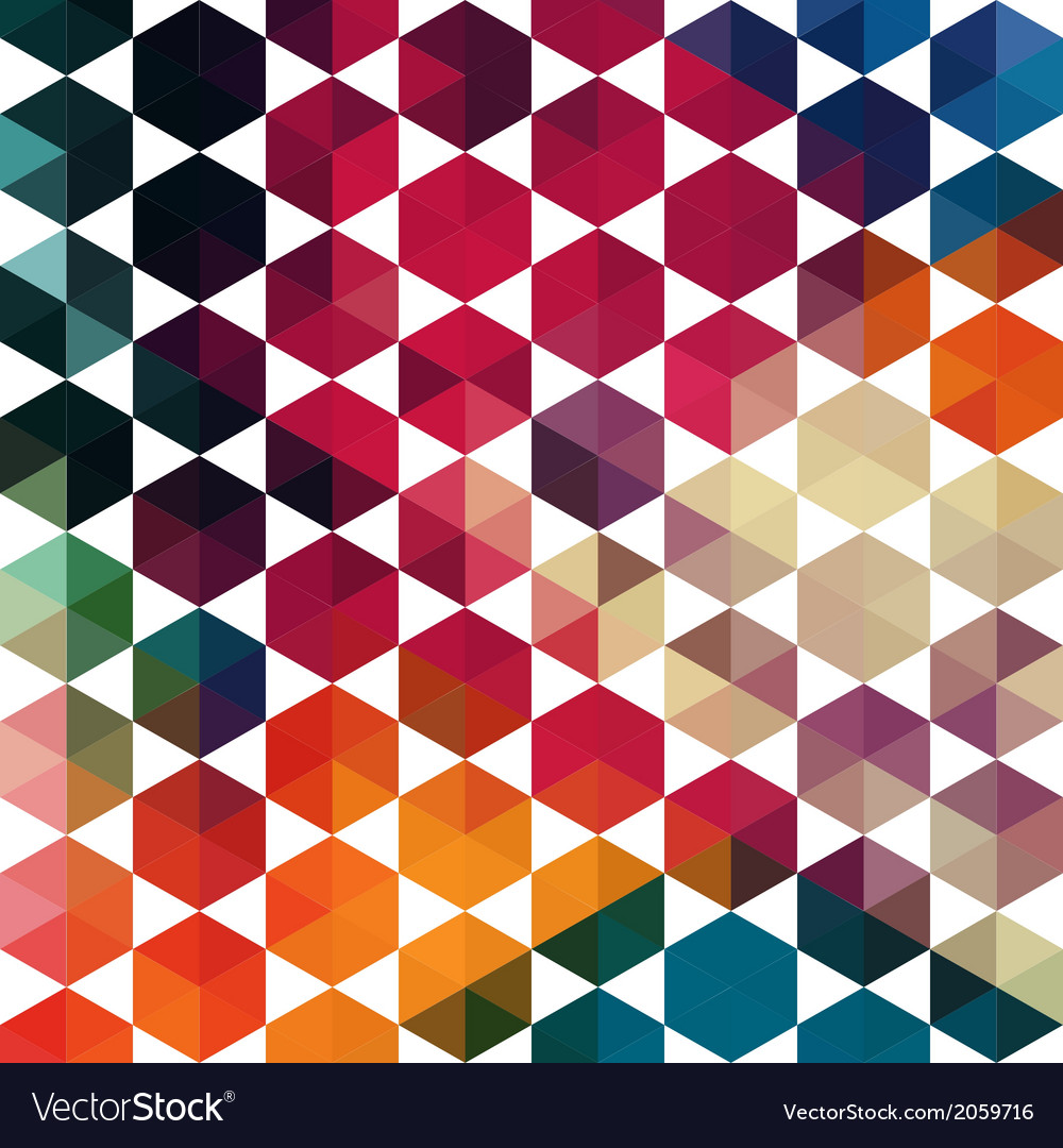 Retro pattern of geometric shapes colorful mosaic vector | Price: 1 Credit (USD $1)