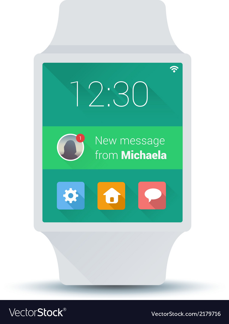 Smart watch concept with simple user interface vector | Price: 1 Credit (USD $1)