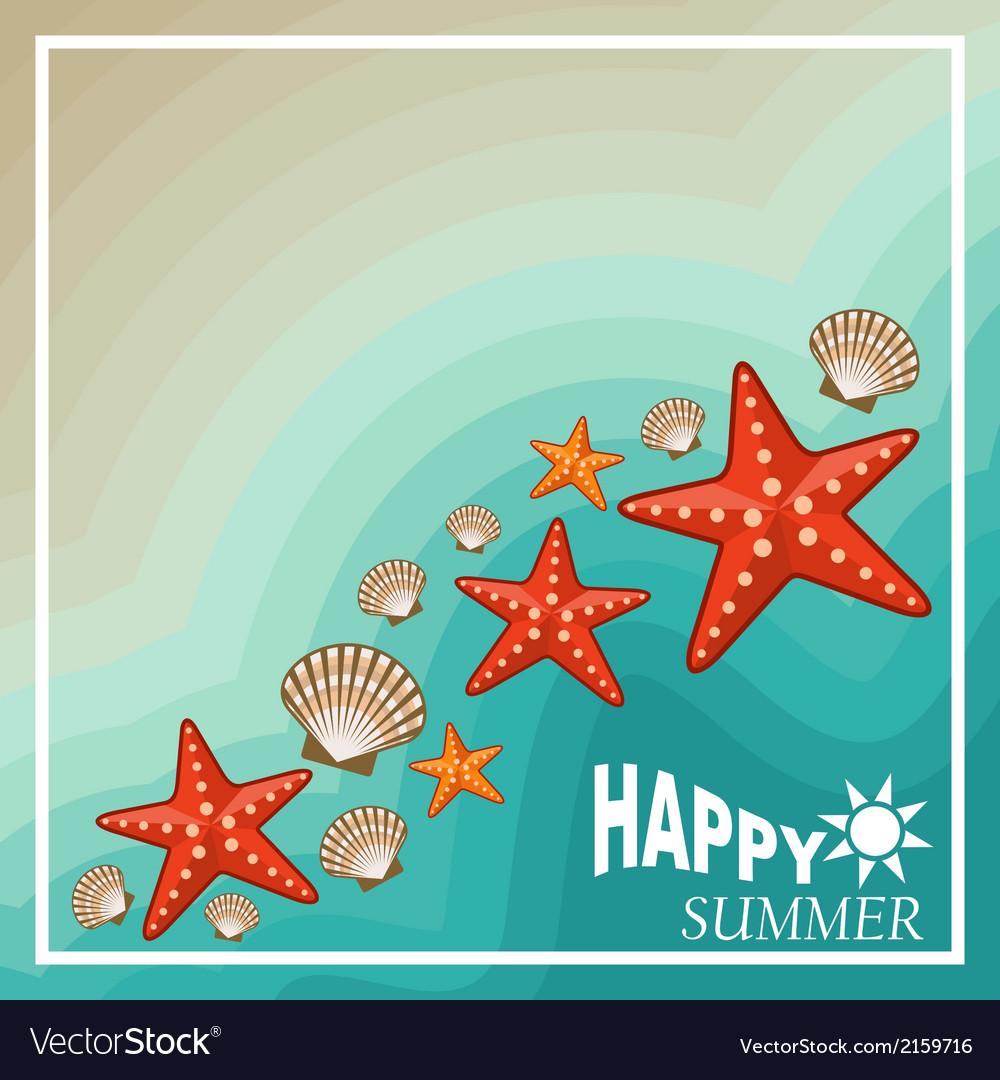 Summer beach set vector | Price: 3 Credit (USD $3)