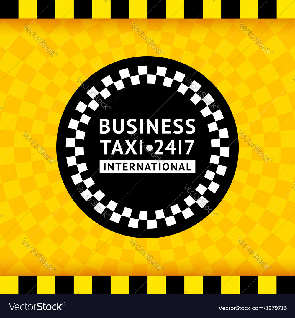 Taxi symbol with checkered background - 19 vector | Price: 1 Credit (USD $1)