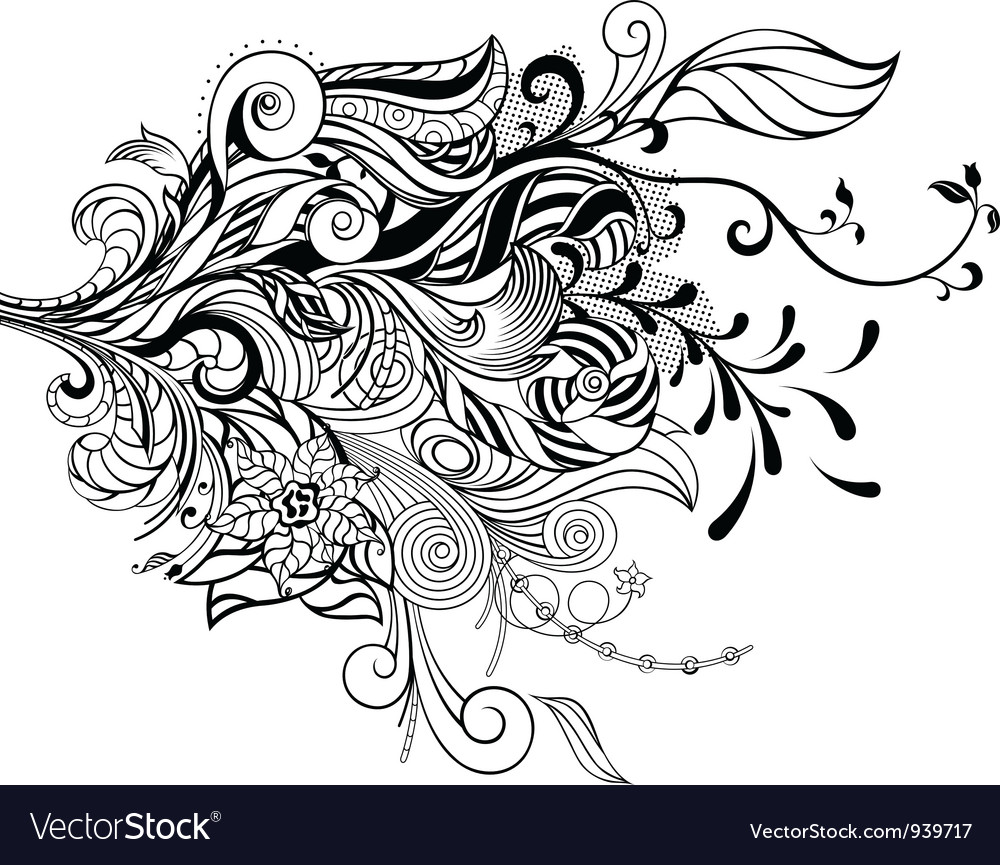 Abstract bouquet vector | Price: 1 Credit (USD $1)