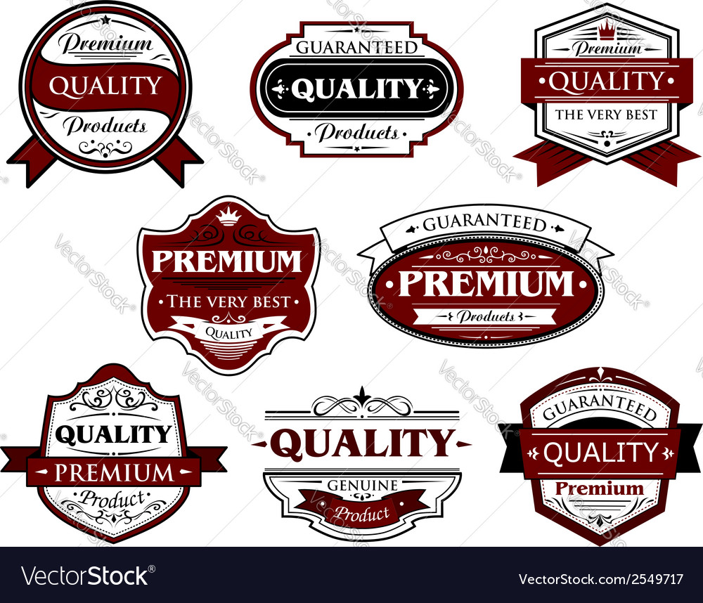 Assorted premium quality labels and banners vector | Price: 1 Credit (USD $1)