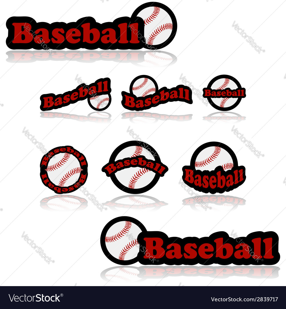 Baseball icons vector | Price: 1 Credit (USD $1)