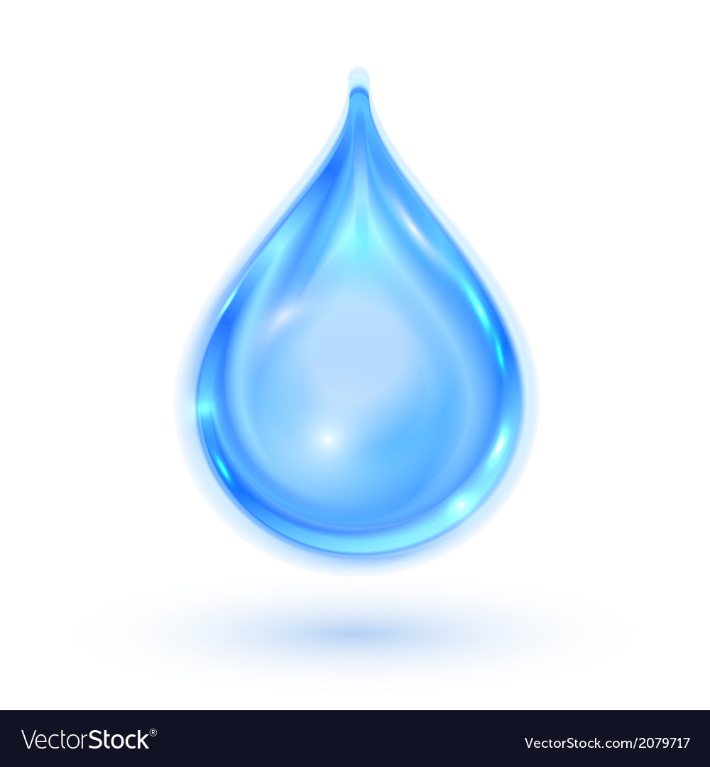 Blue shiny water drop vector | Price: 1 Credit (USD $1)