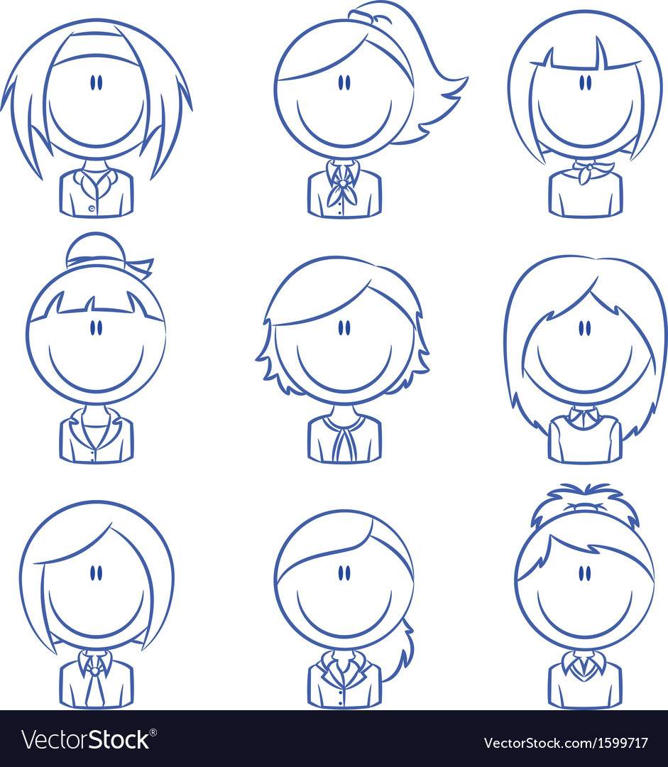 Business female avatar vector | Price: 1 Credit (USD $1)
