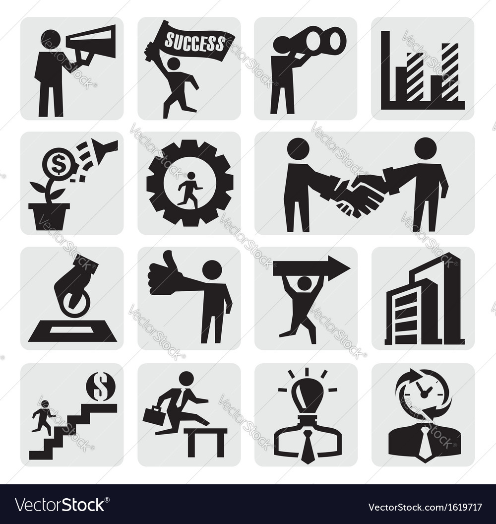 Business icons vector | Price: 1 Credit (USD $1)