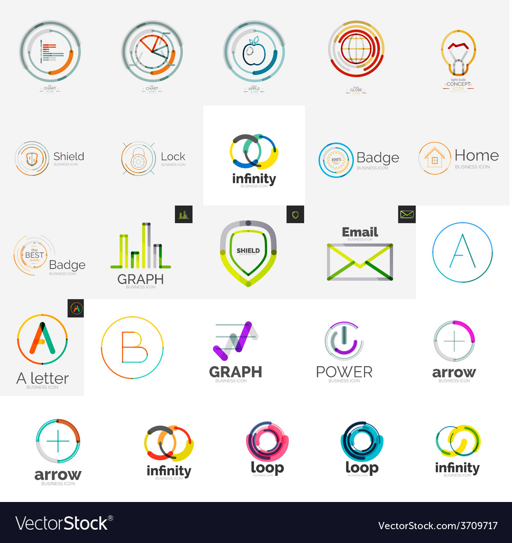Collection of abstract universal logos vector | Price: 1 Credit (USD $1)