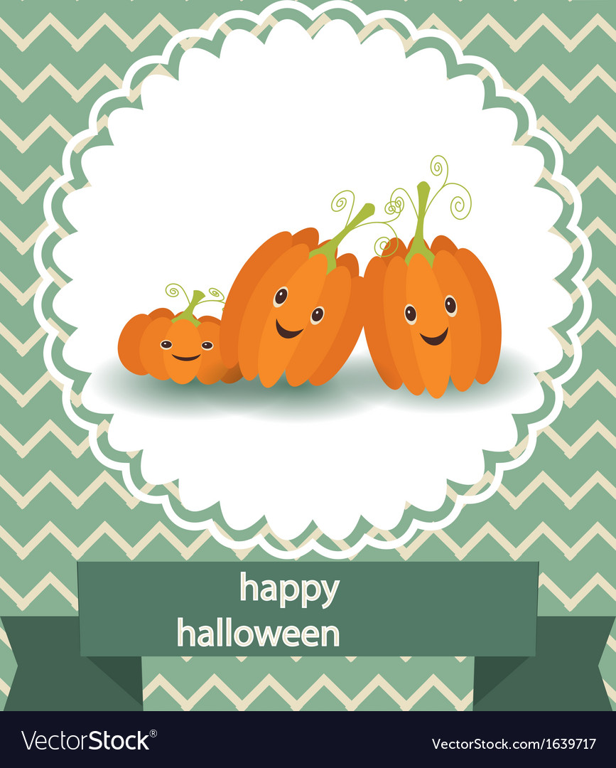 Funny pumpkin to the holiday of halloween vector | Price: 1 Credit (USD $1)