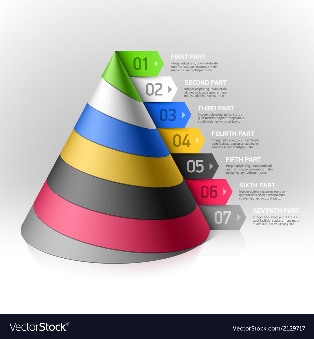 Layered cone design element vector | Price: 1 Credit (USD $1)
