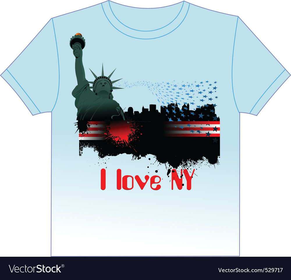 Ny tshirt vector | Price: 1 Credit (USD $1)