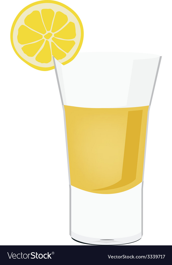 Tequila shot with lemon vector | Price: 1 Credit (USD $1)