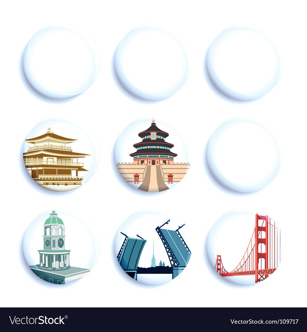Travel destination badges vector | Price: 3 Credit (USD $3)