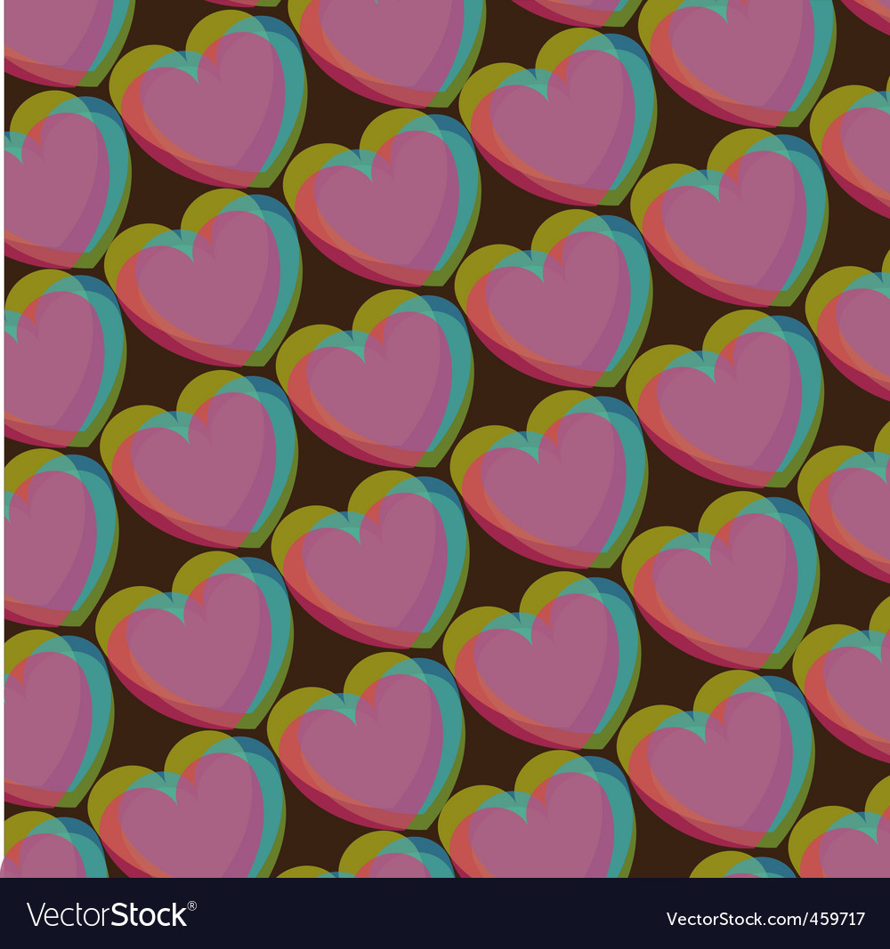 Valentines heart pattern vector | Price: 1 Credit (USD $1)