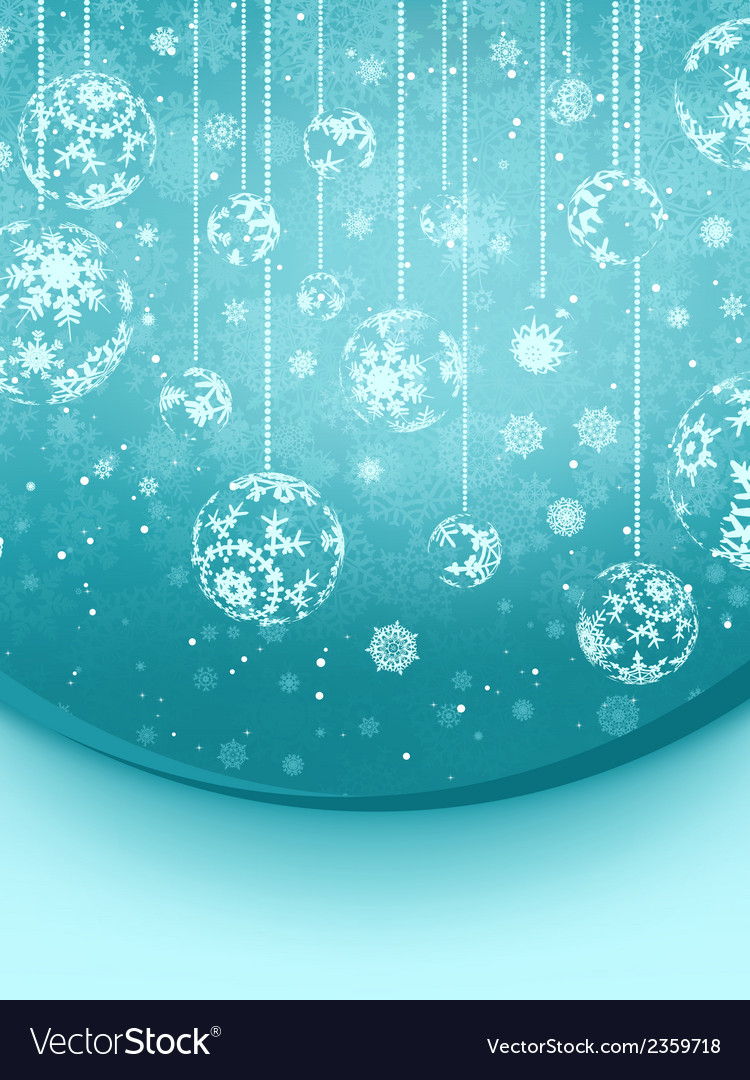 Blue elegant christmas snowflakes eps 8 vector | Price: 1 Credit (USD $1)