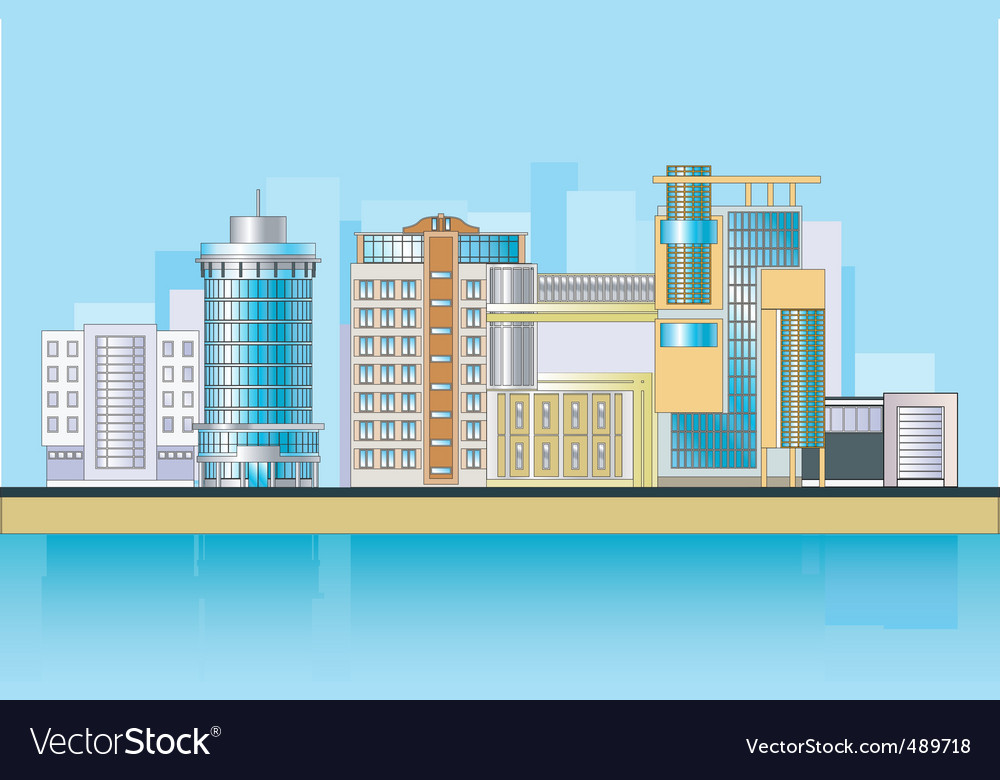 City tower vector | Price: 3 Credit (USD $3)
