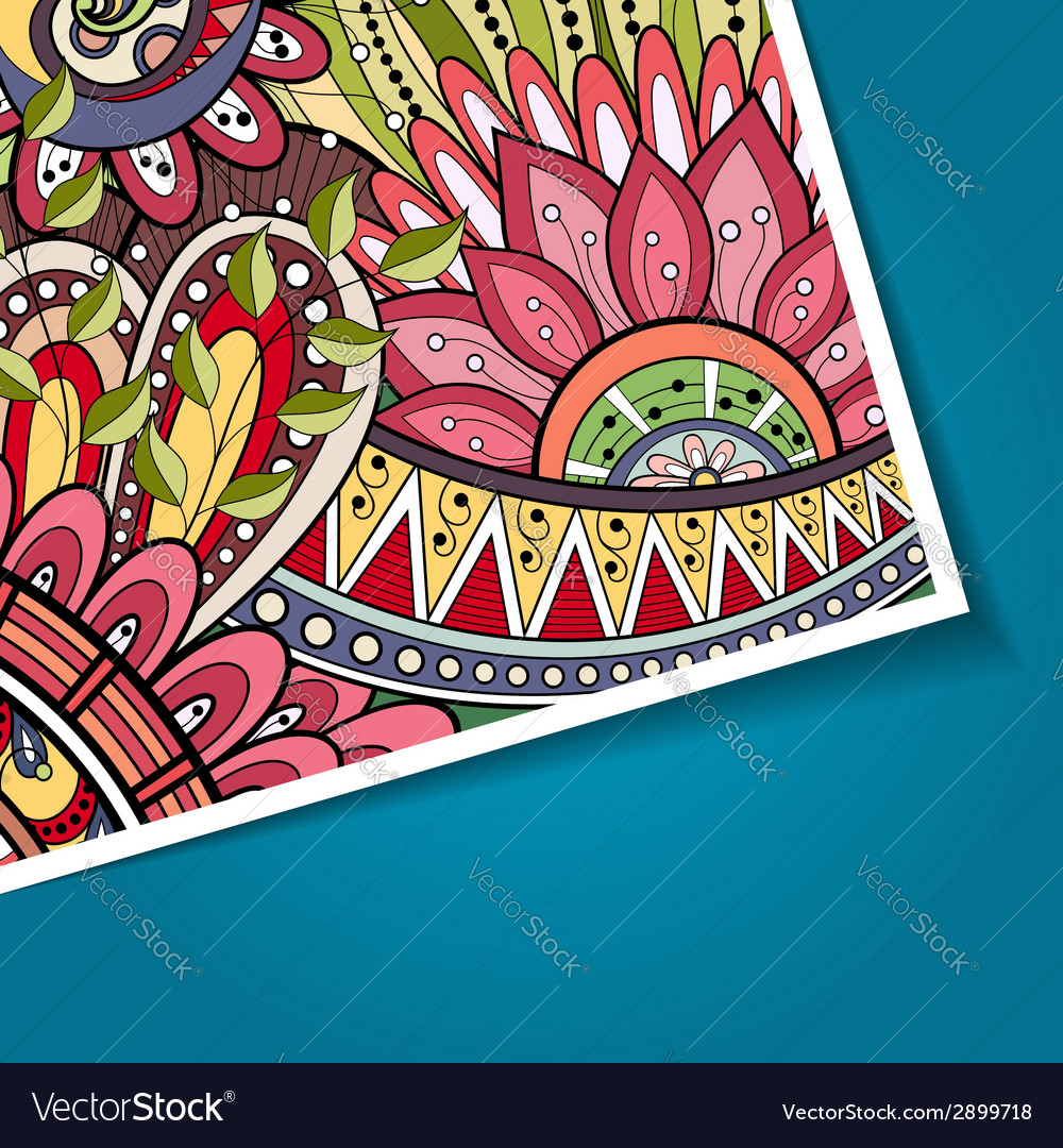 Colored floral background vector   Price: 1 Credit (USD $1)