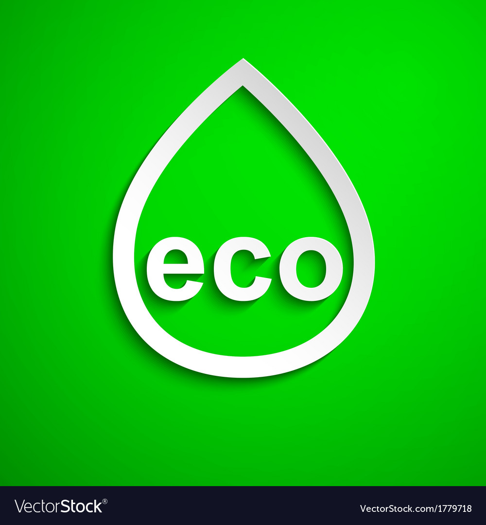 Eco symbol design element eps10 vector