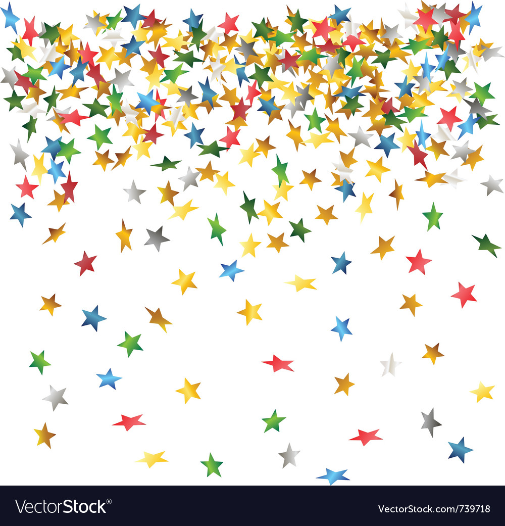 Falling down confetti vector | Price: 1 Credit (USD $1)