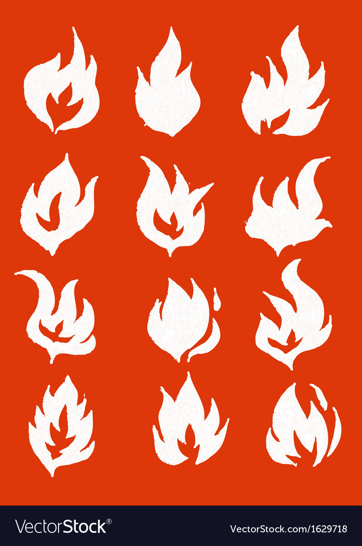 Fire flames icons in vector | Price: 1 Credit (USD $1)