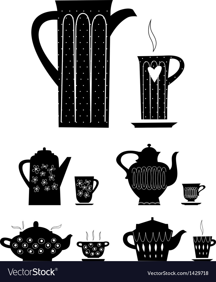 Kettle and cup of tea vector | Price: 1 Credit (USD $1)