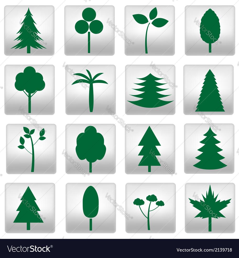 Trees set vector | Price: 1 Credit (USD $1)