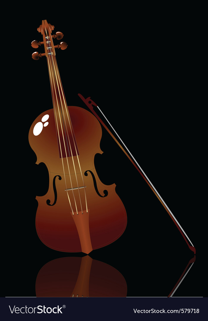 Violin and bow vector | Price: 1 Credit (USD $1)