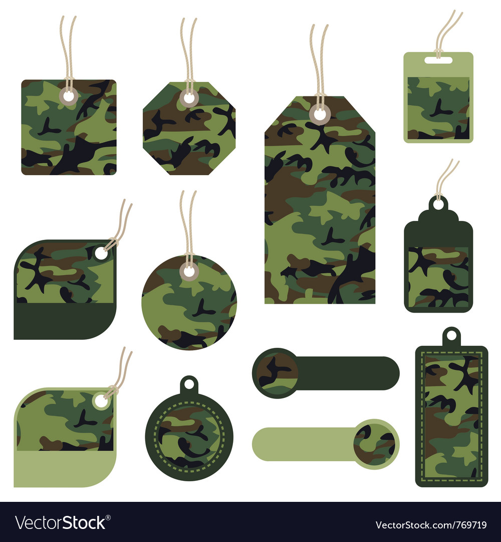 Camouflage tags vector | Price: 1 Credit (USD $1)