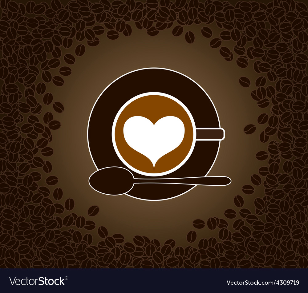 Cappuccino heart patterned vector | Price: 1 Credit (USD $1)