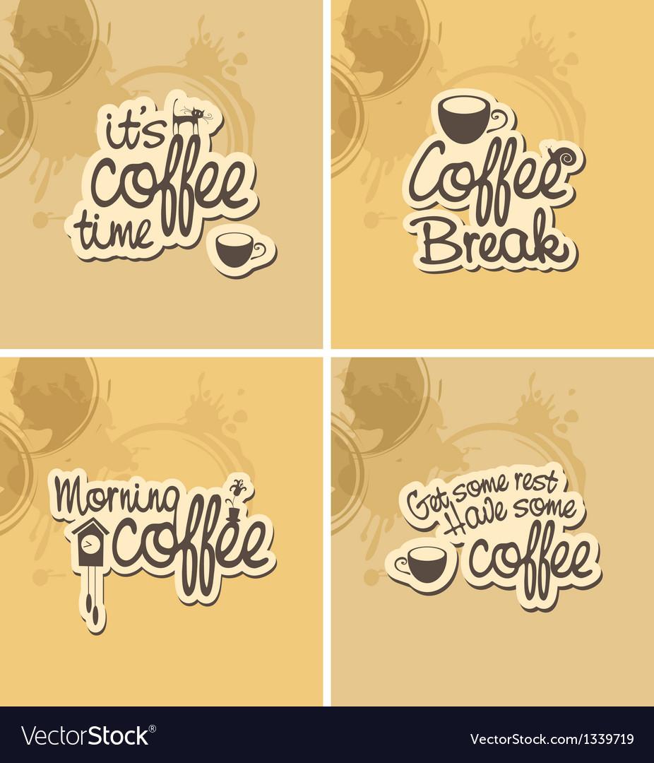 Coffee breaks vector | Price: 1 Credit (USD $1)