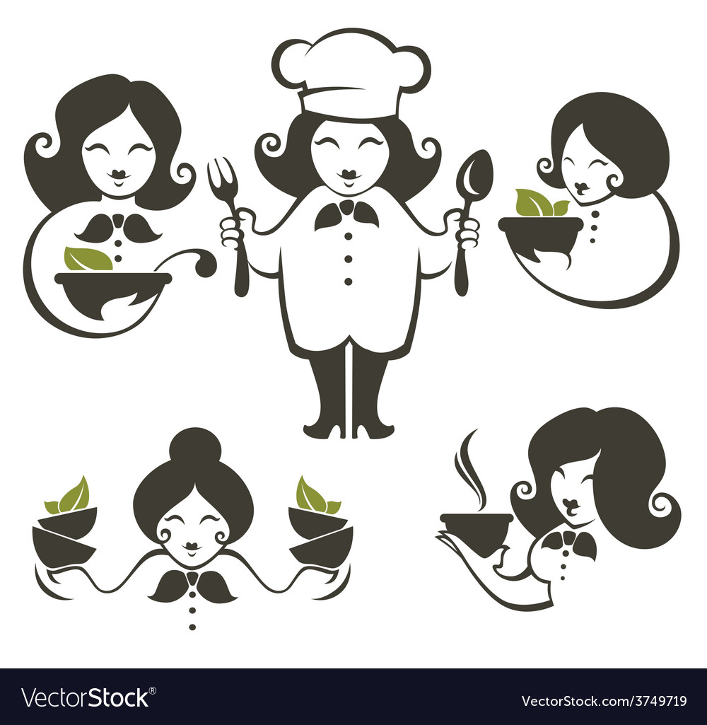 Cooking women vector | Price: 1 Credit (USD $1)