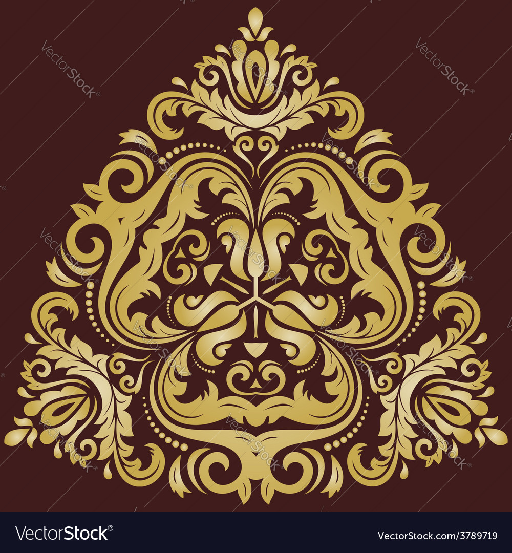 Damask orient pattern vector | Price: 1 Credit (USD $1)
