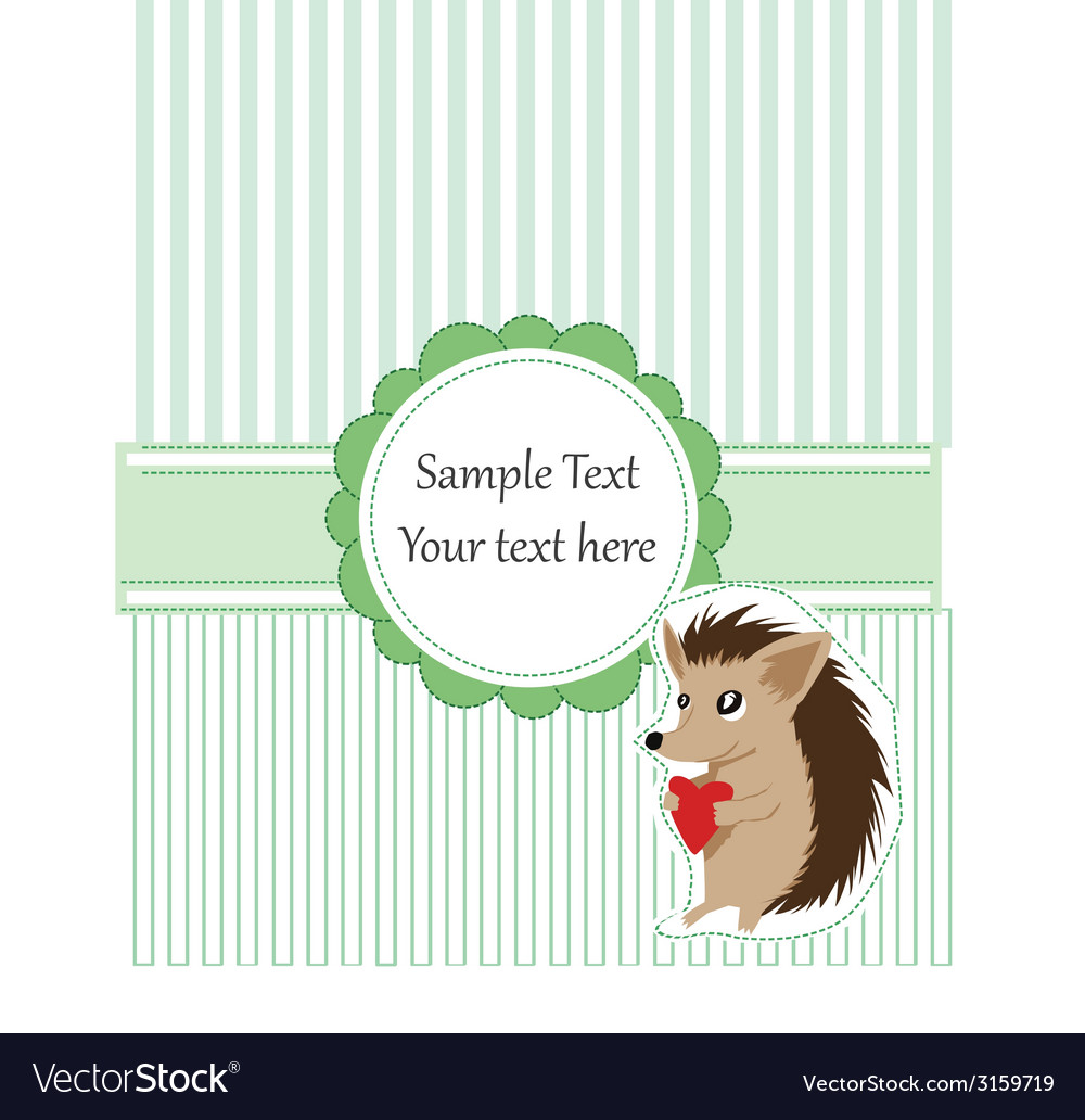 Hedgehog card vector | Price: 1 Credit (USD $1)