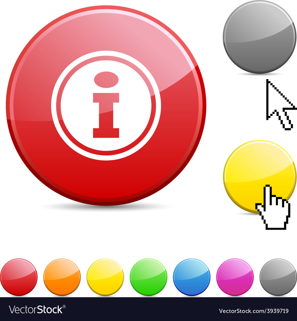 Info glossy button vector | Price: 1 Credit (USD $1)