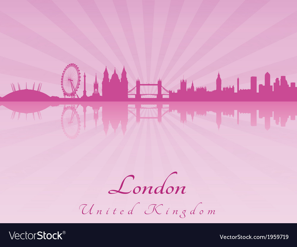 London skyline in purple radiant orchid vector | Price: 1 Credit (USD $1)