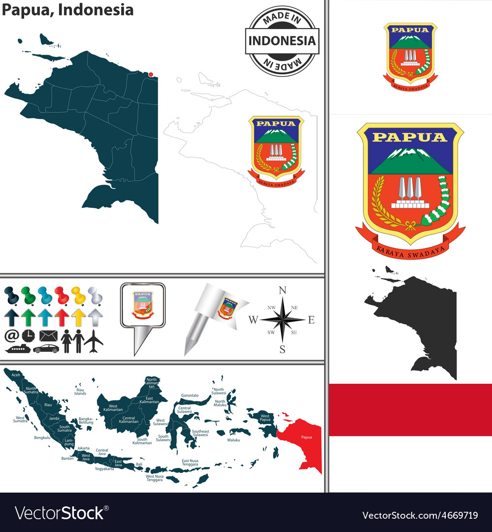 Map of papua vector | Price: 1 Credit (USD $1)