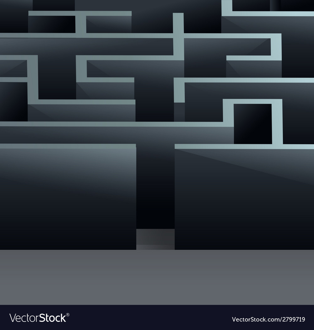 Maze 3d square vector | Price: 1 Credit (USD $1)