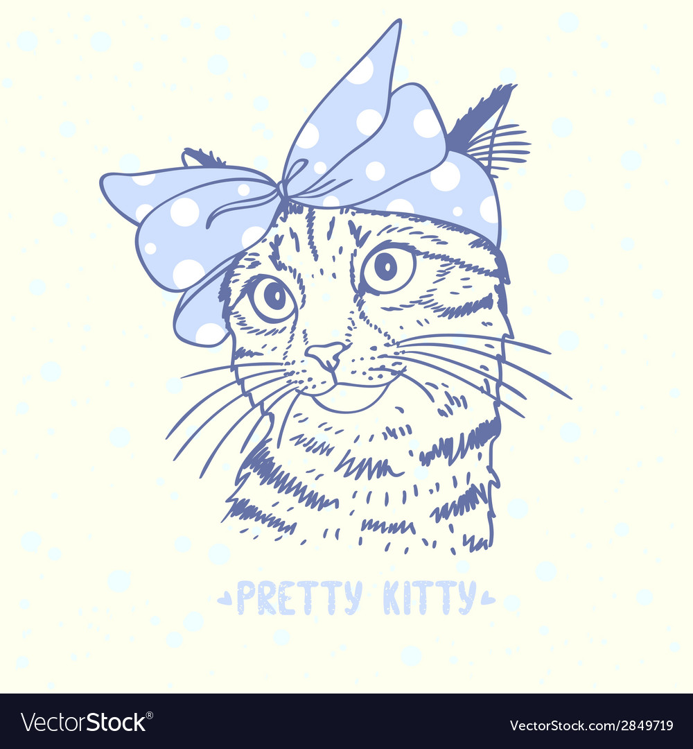 Pretty kitty vector | Price: 1 Credit (USD $1)