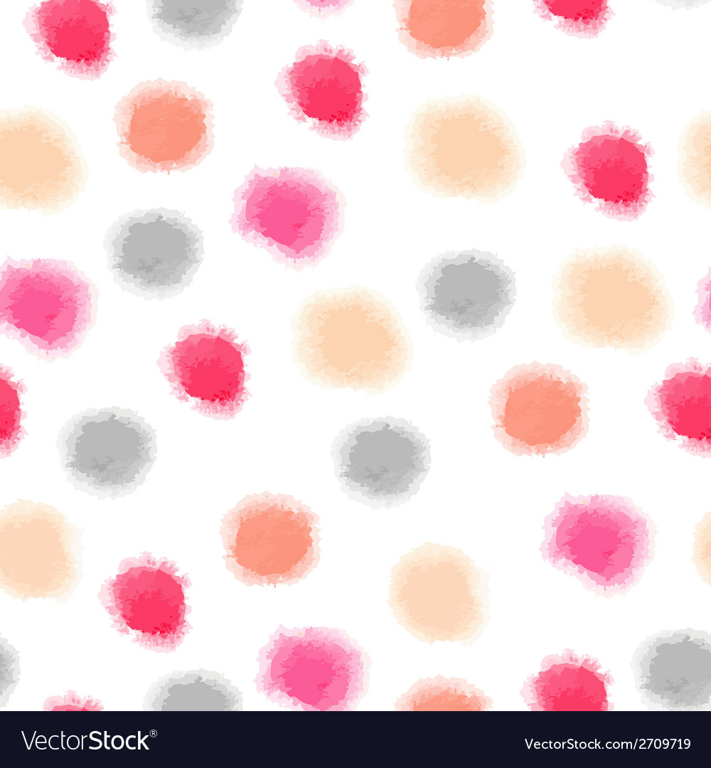 Seamless watercolor dots background vector | Price: 1 Credit (USD $1)